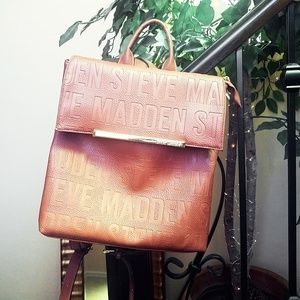 Steve madden brown  backpack purse